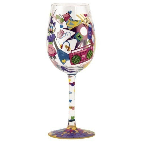80's Girl Wine Glass by Lolita®