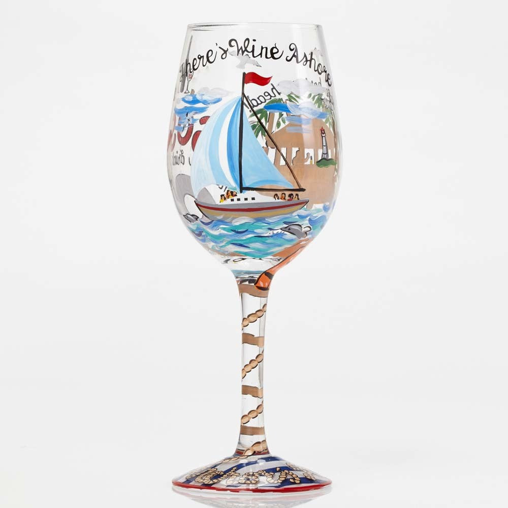 Anchor's Away Wine Glass by Lolita®