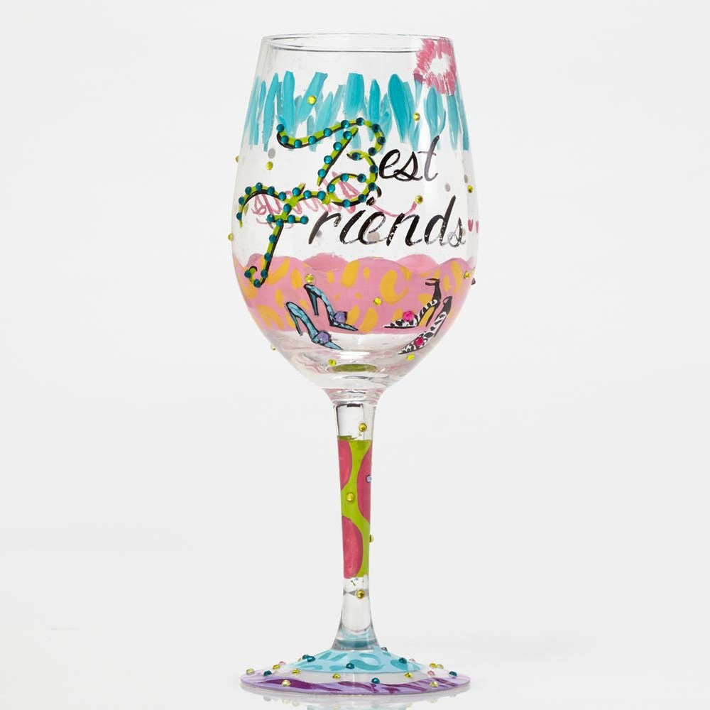 Best Friends Always Wine Glass by Lolita®
