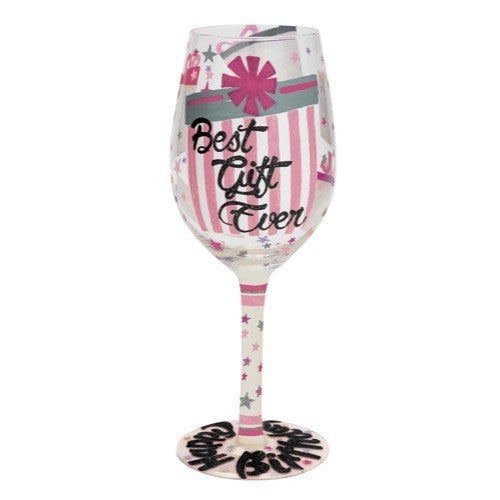 Best Gift Ever Wine Glass by Lolita®