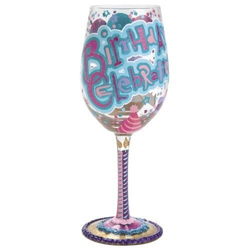 Birthday Celebration Wine Glass by Lolita®