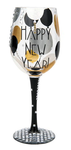 Blinging New Year Wine Glass by Lolita®