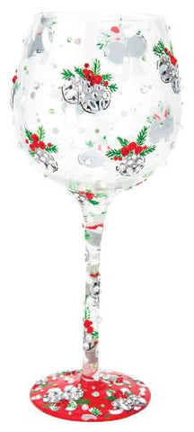 Blingle Bells Super Bling Wine Glass by Lolita®