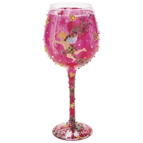 Cupid's Bow Super Bling Wine Glass by Lolita®