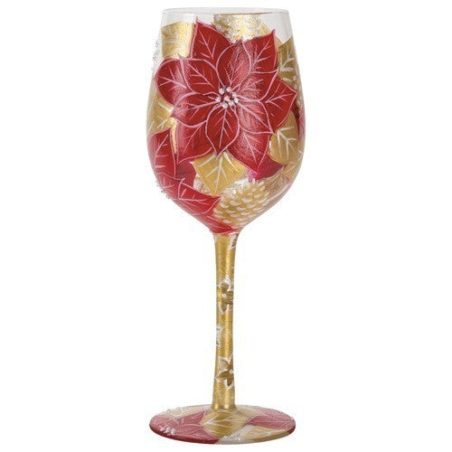 Holiday Bouquet 3 Wine Glass by Lolita®