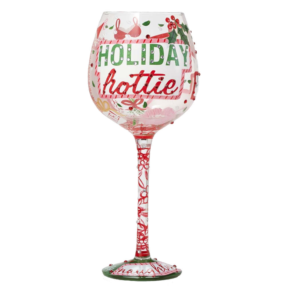 Holiday Hottie Super Bling Wine Glass by Lolita®