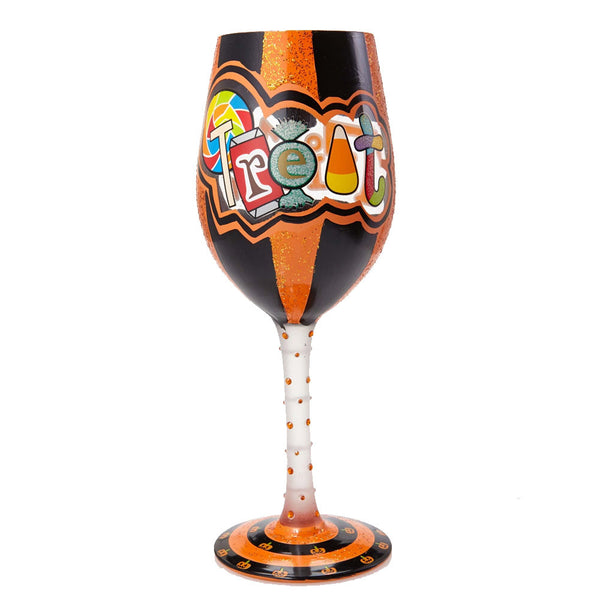 Trick or Treat Too Wine Glass by Lolita®