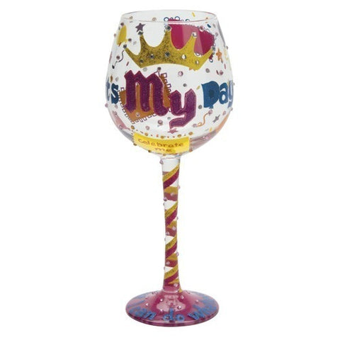 It's My Day Super Bling Wine Glass by Lolita®