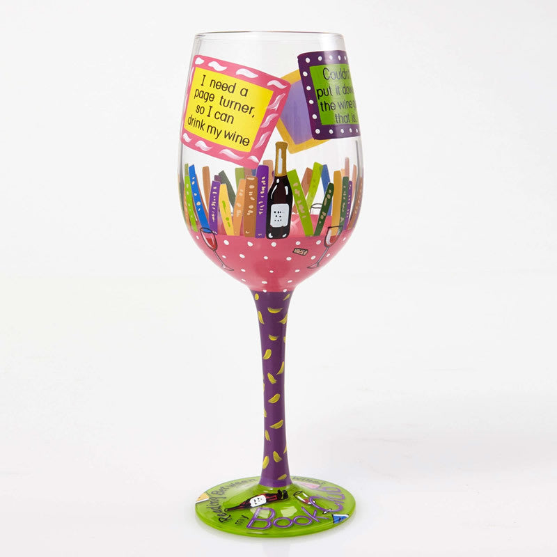 My Book Club Wine Glass by Lolita®