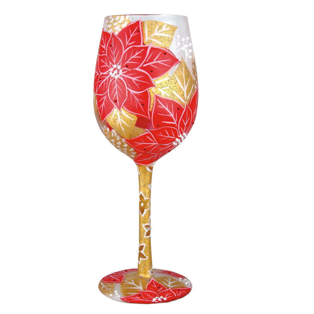 Poinsettia Wine Glass by Lolita®
