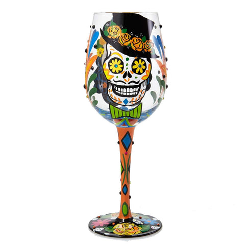 Sugar Skulls Wine Glass by Lolita®