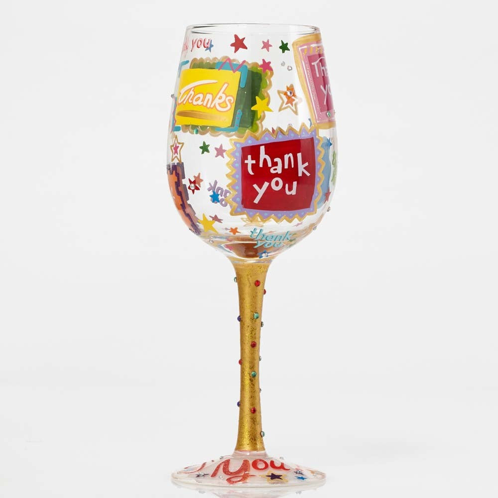 Thank You. Thank You Wine Glass by Lolita®