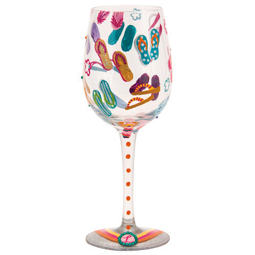 Flip Flops Too Wine Glass by Lolita®