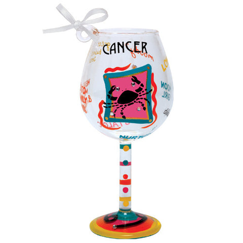 Cancer Mini Wine Glass Ornament by Lolita®