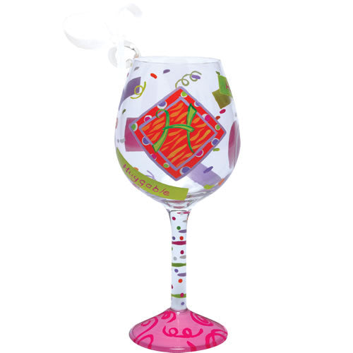 """H"" Mini Wine Glass Ornament by Lolita®"