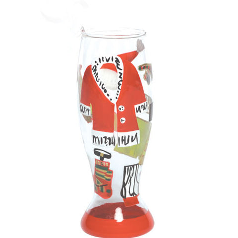 Hot Daddy Claus Mini Pilsner Glass Ornament by Lolita®