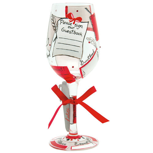 "Guest Book ""Personalize -It"" Wine Glass by Lolita®"
