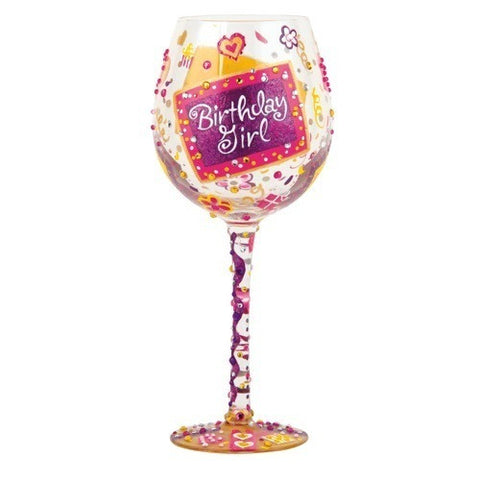 Birthday Girl Super Bling Wine Glass by Lolita®