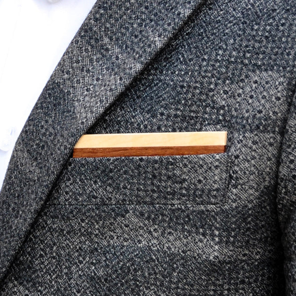Bubingle Wooden Pocket Square Product Page - A-Side Image 1 - Classic Collection - BAFFI