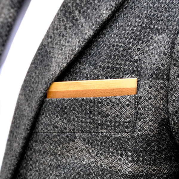 Chash Wooden Pocket Square Product Page - A-Side Image 1 - Classic Collection - BAFFI