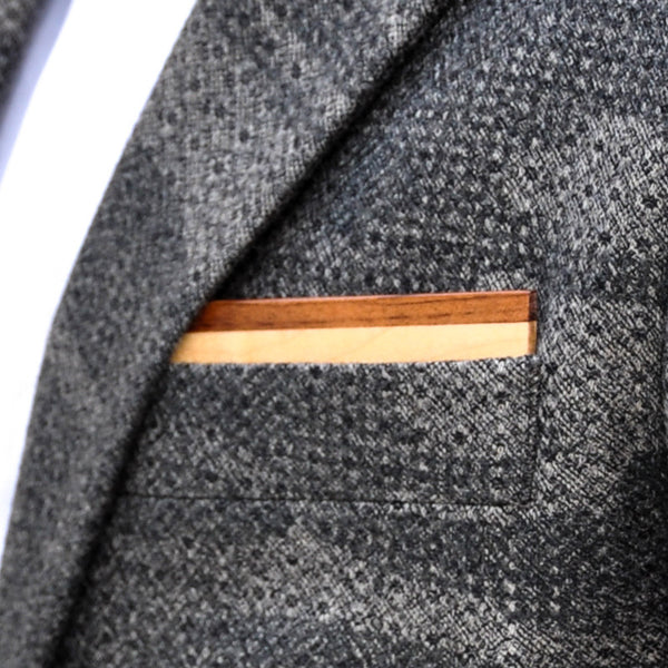 Mapling Wooden Pocket Square Product Page - A-Side Image 1 - Classic Collection - BAFFI