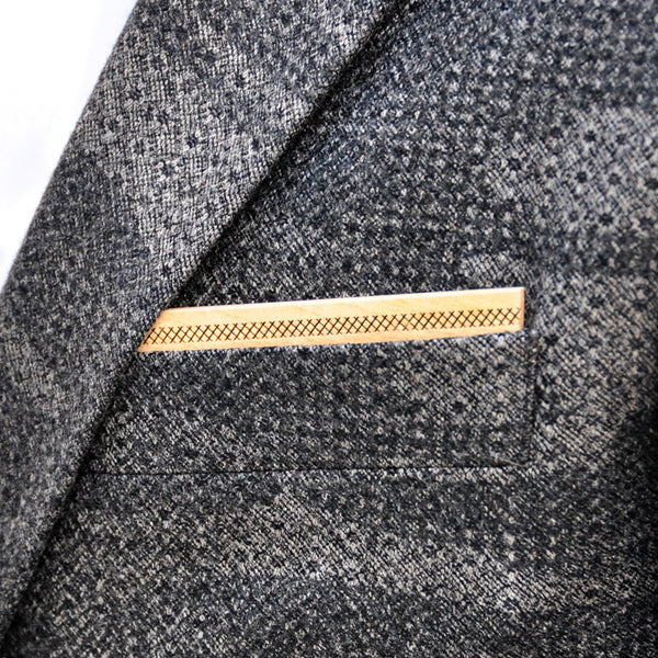 Mapling Wooden Pocket Square Product Page - B-Side Image 1 - Classic Collection - BAFFI