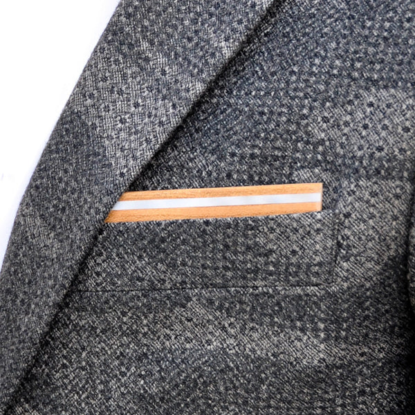 Spotted Owl Wooden Pocket Square Product Page - B-Side Image 1 - The Blurred Line - BAFFI