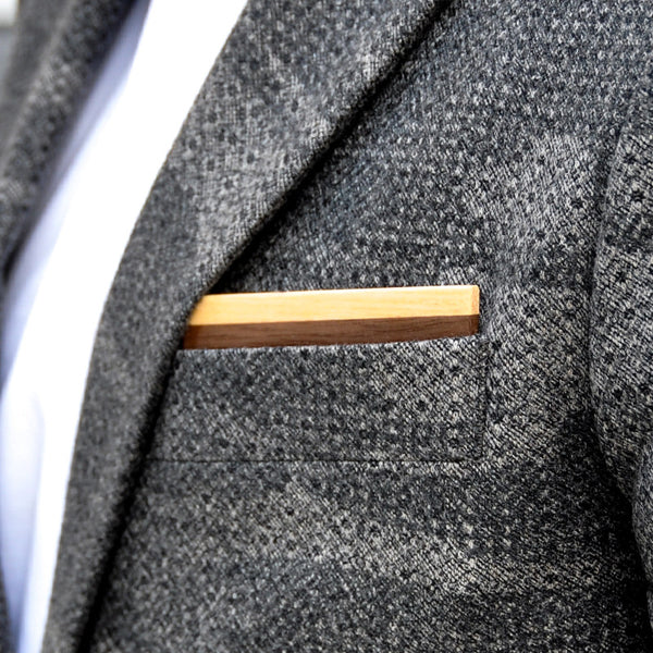 Wapple Wooden Pocket Square Product Page - A-Side Image 1 - Classic Collection - BAFFI