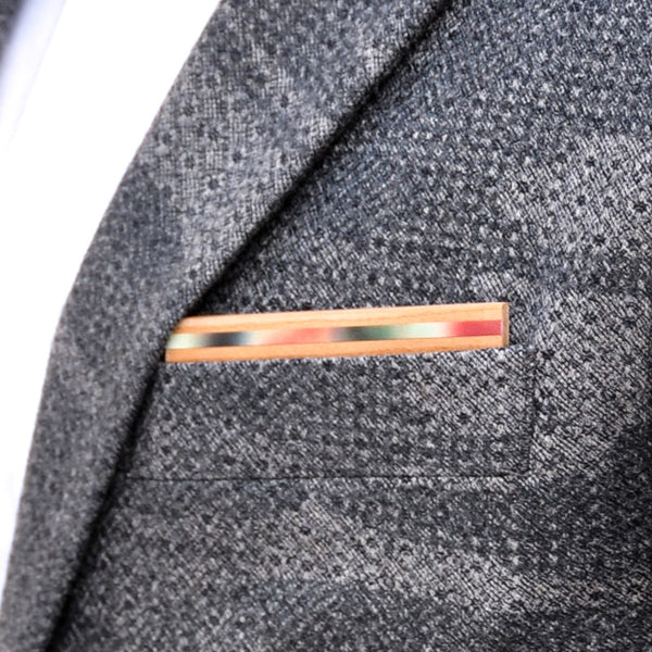Watermelon Wooden Pocket Square Product Page - B-Side Image 1 - The Blurred Line - BAFFI
