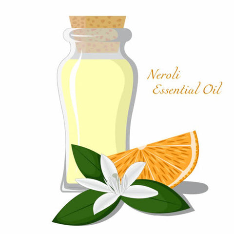 Neroli essential oils for skin lesions