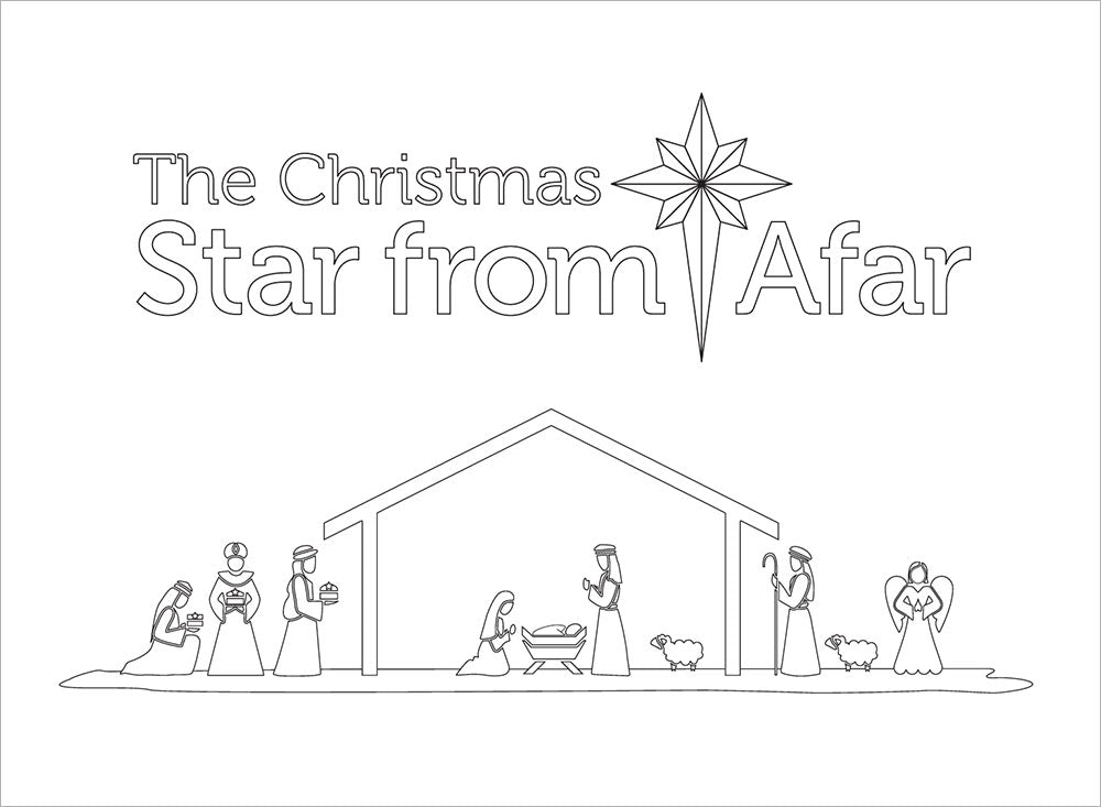 Star Kids Christmas Coloring Book