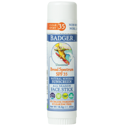 SPF 35 Kids Clear Zinc Face Stick .65 fl oz