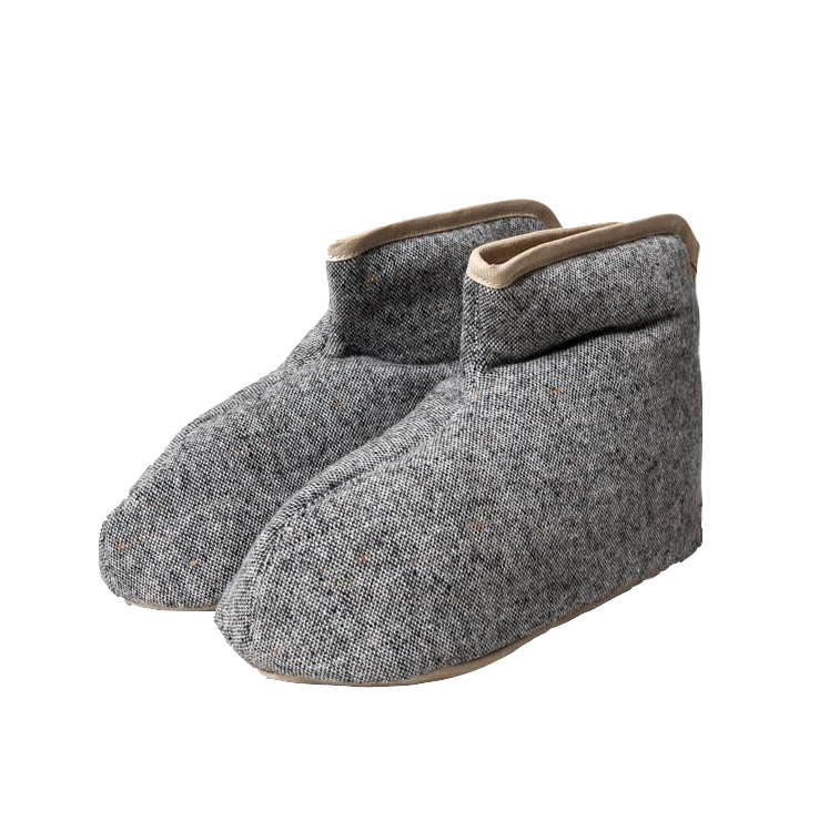 Sasawashi Wool Room Boots Grey LARGE