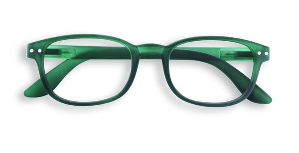 Reading Glasses #B Green Crystal 2.5