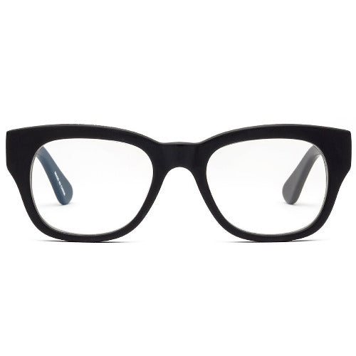1.00 Matte Black Reading Glasses CADDIS Miklos