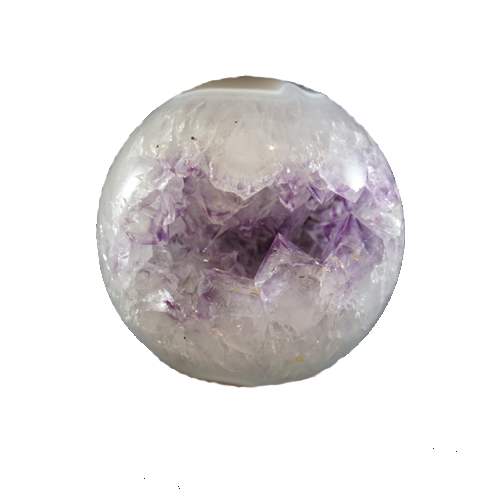 Brazilian Amethyst with Agate Ball