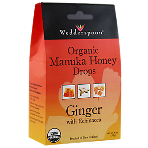 Organic Manuka Honey Ginger Drops