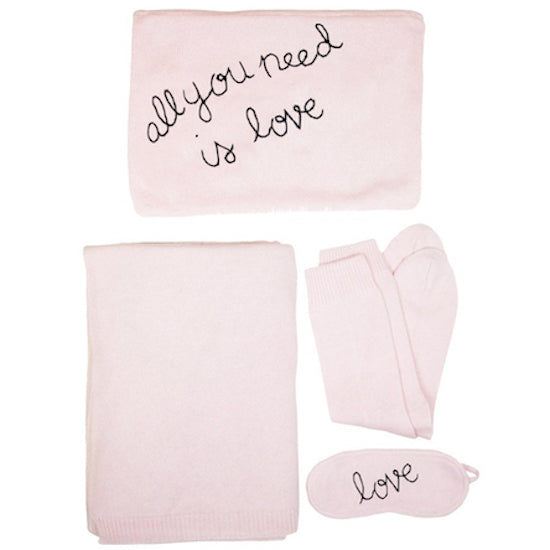 All You Need Is Love - Cashmere Travel Set