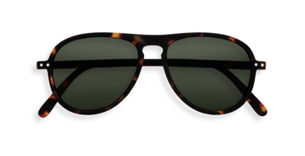 Sunglasses Green Lenses #I Tortoise