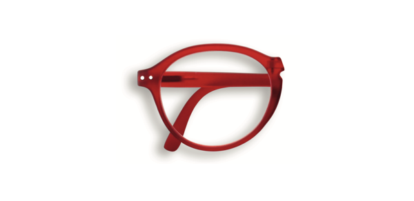 Reading Glasses #F Red Crystal Soft 1