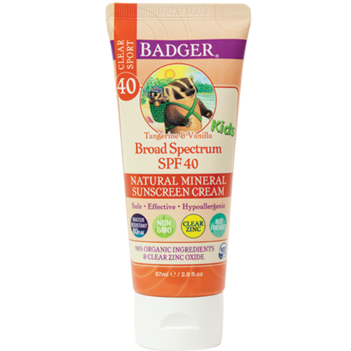 SPF 40 Kids Clear Zinc Sport sunscreen cream  2.9 fl oz