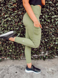Green High Waisted Legging