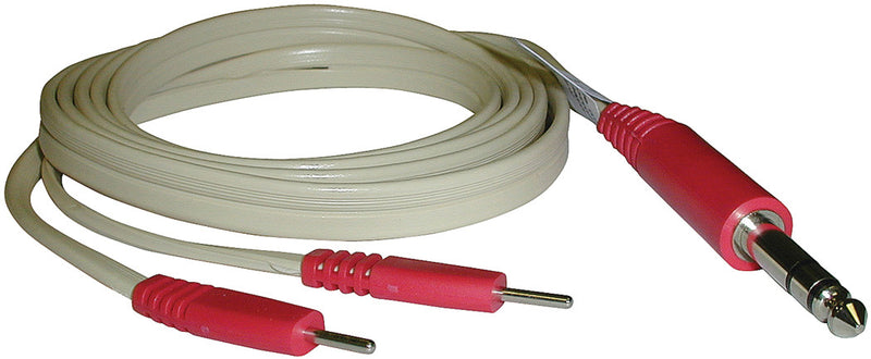 "CMP Lead Wire, 120"", Dyna, 1/4-2 pin to pins Ivory, Red"
