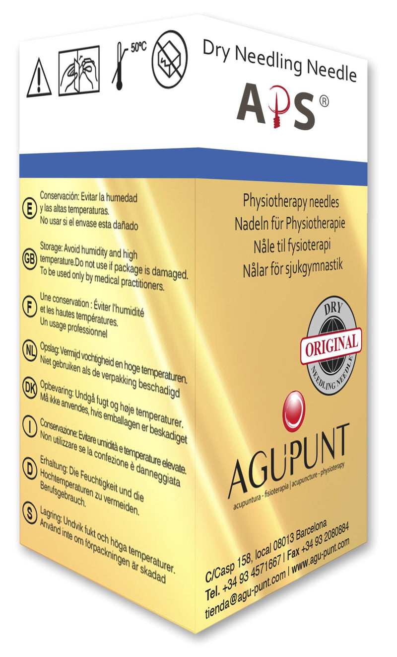 Agupunt Standard Dry Needle with Color Tab, Box of 100