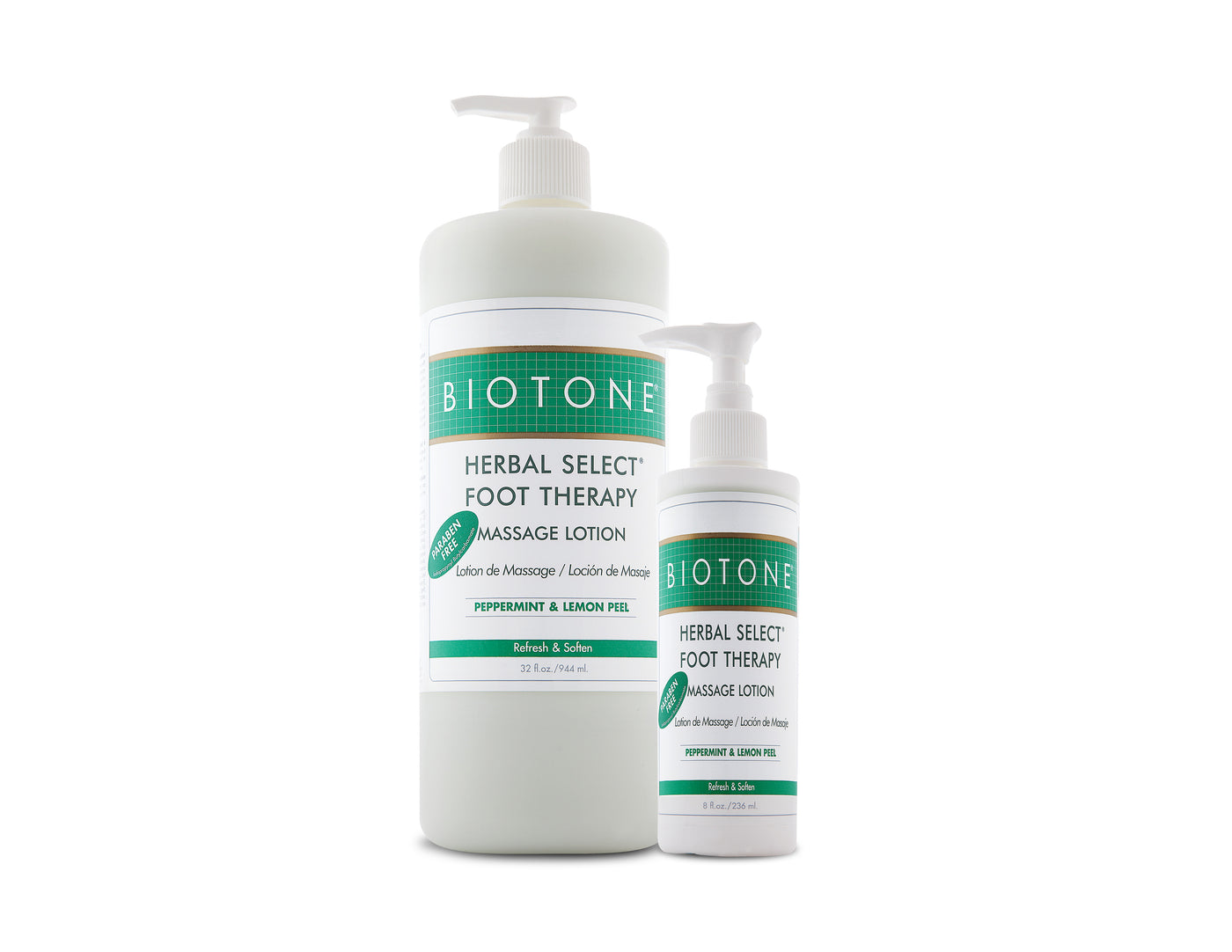 Biotone Herbal Vælg Foot Therapy Massage Lotion Thera-7596