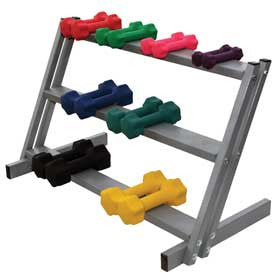 Ideal Dumbbell Rack, 3 Shelf, 200# Capacity