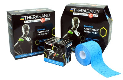 "TheraBand Kinesiology Tape, Continuous. Roll, Disp 2""x16.4'-Black/Grey"