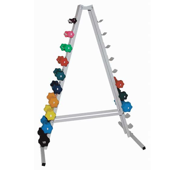 "Ideal Dumbbell Rack,""The Tower""A-Frame,Hold 20 sml dumbbell"