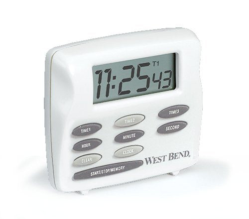 WestBend Digital Triple Timer Color: White