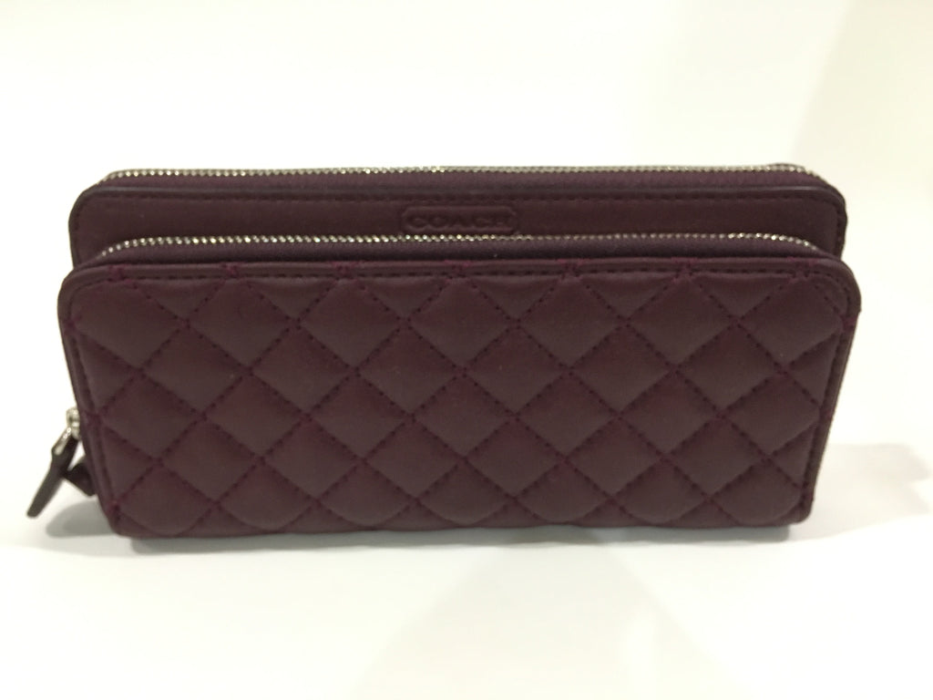 Coach Park Quilted Double Accordion Zip